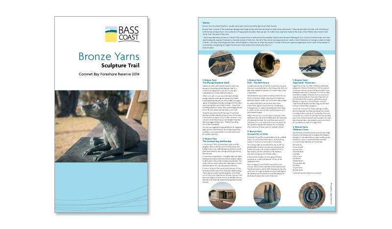 Bass Coast Shire Council public art brochure