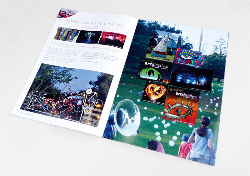 Creative Gippsland brochure spread