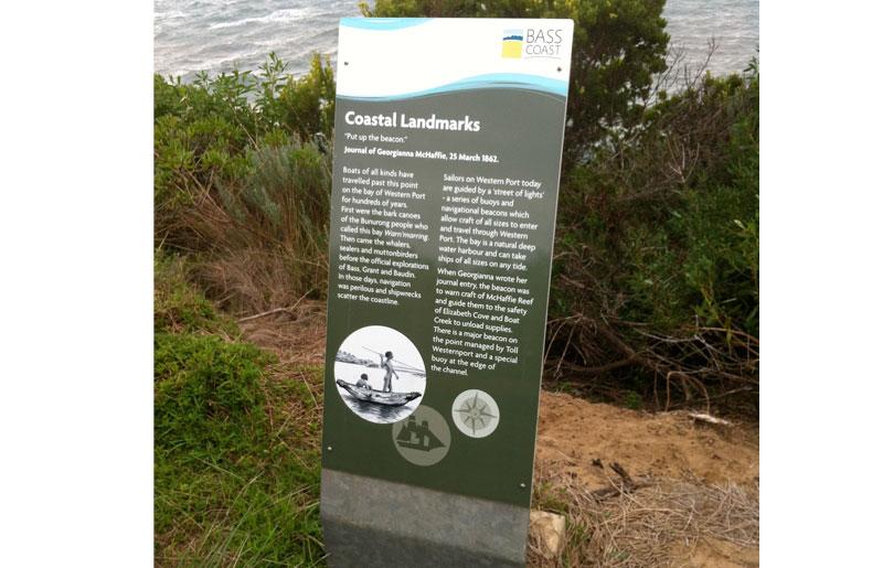 Grossard Point interpretive sign