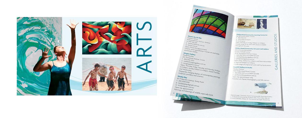 Bass Coast arts directory spread