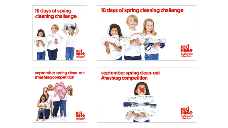 Red Nose Clothing and Collection digital campaign