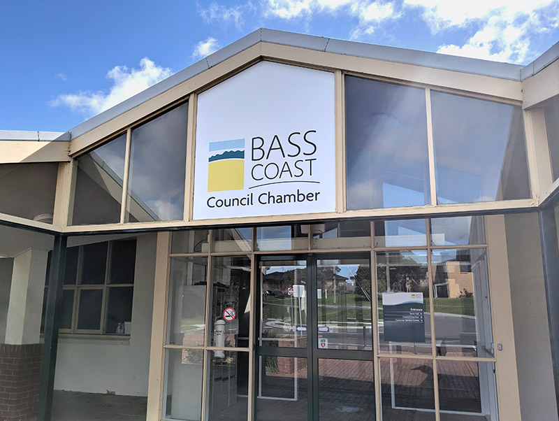 Bass Coast Shire Council Chamber signs