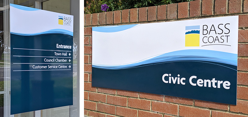 Bass Coast Shire Council building signage detail